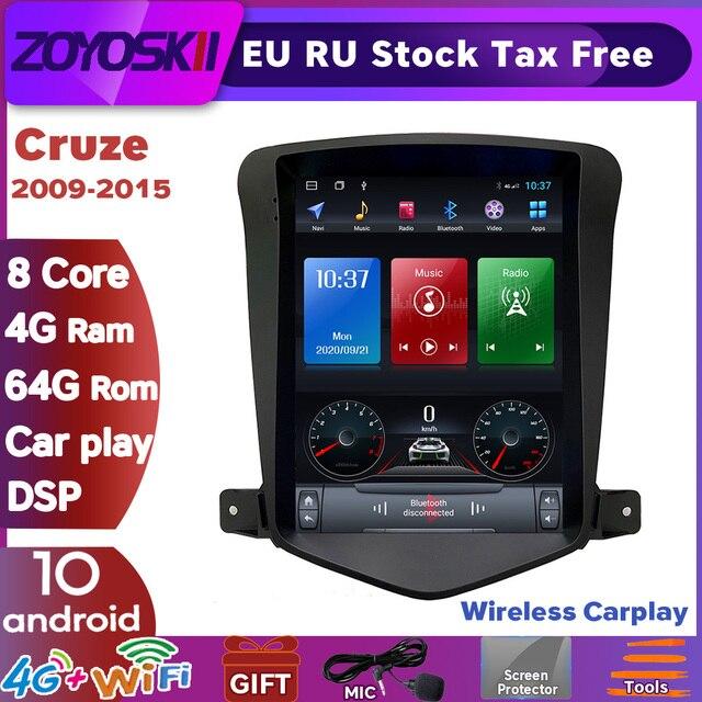 "ZOYOSKII Android 10.4"" IPS vetical Tesla screen car gps multimedia radio player for Chevrolet Cruze J300 Daewoo Lacett 2009-2015"