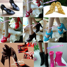 Sandals Barbie-Doll-Shoes Sneaker Doll-Accessories for Shoeshigh-Heeled Fashion 1/6 Genuine