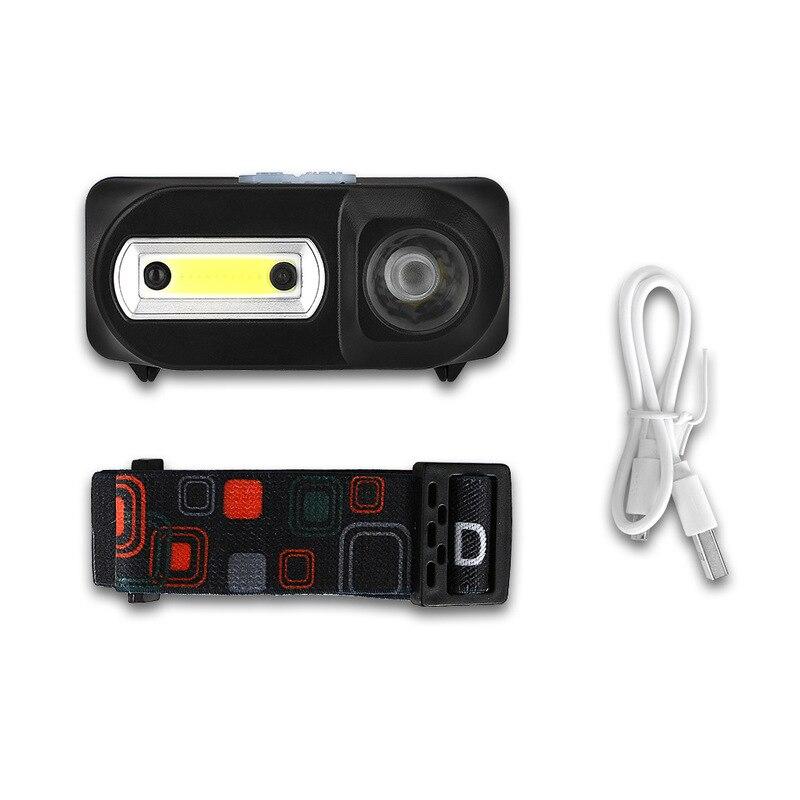 XANES HL8 700LM XPE + COB LED Smart Sensor Scheinwerfer Usb-schnittstelle Wasserdichte Outdoor-Camping Wandern Radfahren Angeln Licht Taschenlampe