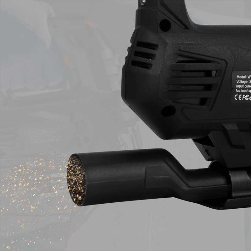 Lomvum ジグソーパズル電源ツール機械電気レーザーガイドで見たジグはメタルウッド鋼カッター刃木工用