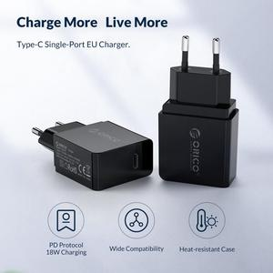 Image 2 - ORICO PD Fast Charger 18W USB Type C Charger Mini Portable Wall Charger for iPhone 11Pro Max xiaomi Huawei