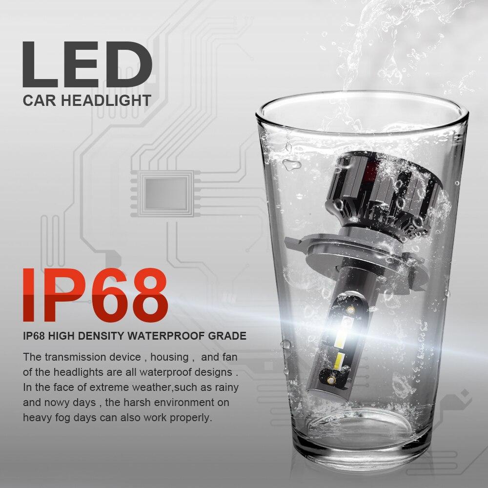2 pièces APPLICATION Bluetooth Contrôle RVB Voiture phare LED Couleur Changeante Lumière H1 H3 H8 H9 H11 9005 9006 Lampe Frontale automatique H4 LED H7 Ampoules - 6