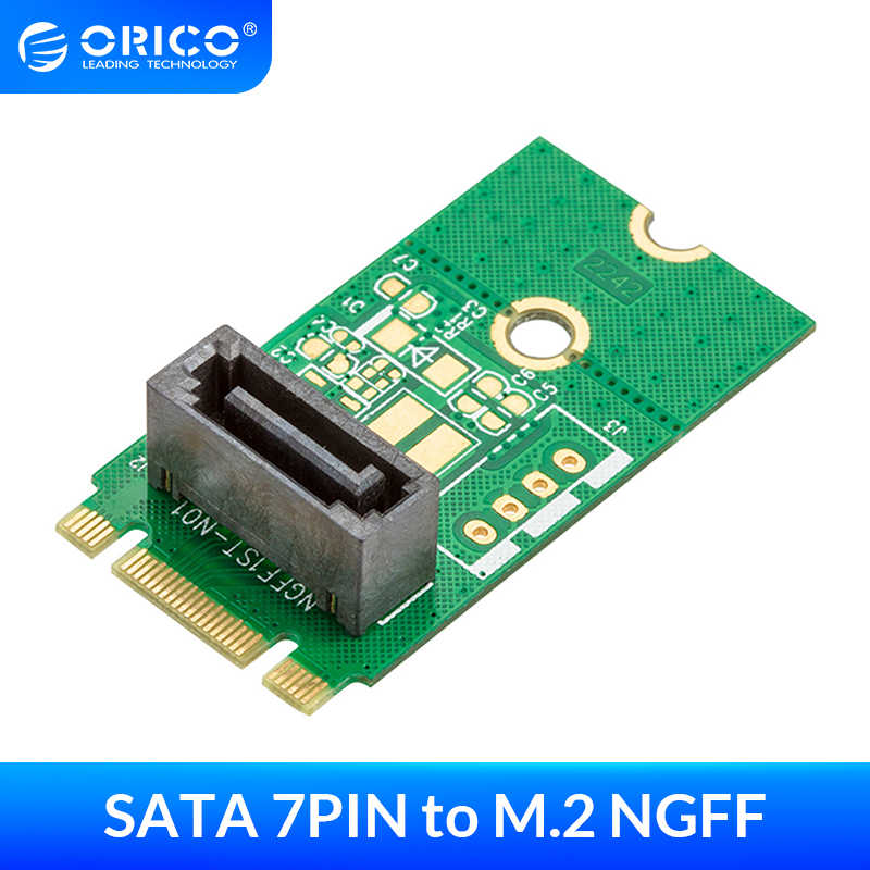 Suchinm M.2 NGFF to SATA Converter M.2 NGFF to SATA 7 Pin Riser Card M.2 NGFF Adapter Converter Up to 6.0GB//s for PC Laptop