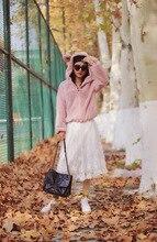 Autumn Korean Pink Ears Plush Vests Loose Warm Hooded Coat Sweatshirt Women 2019 Pullovers