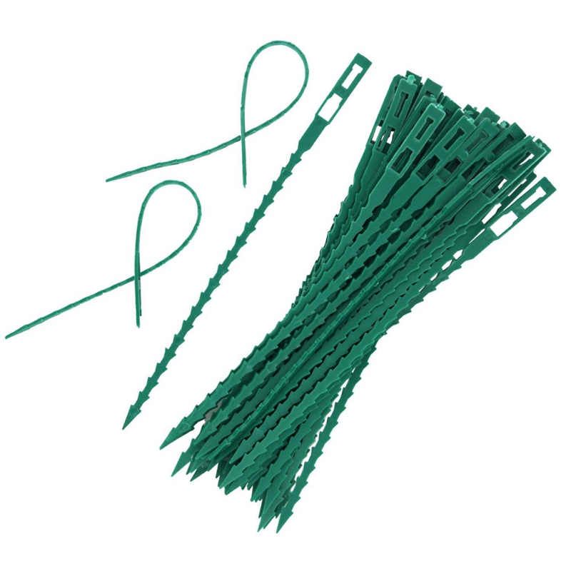 50pcs/100pcs Adjustable Plastic Plant Cable Ties Reusable Cable Ties For Garden Tree Climbing Support