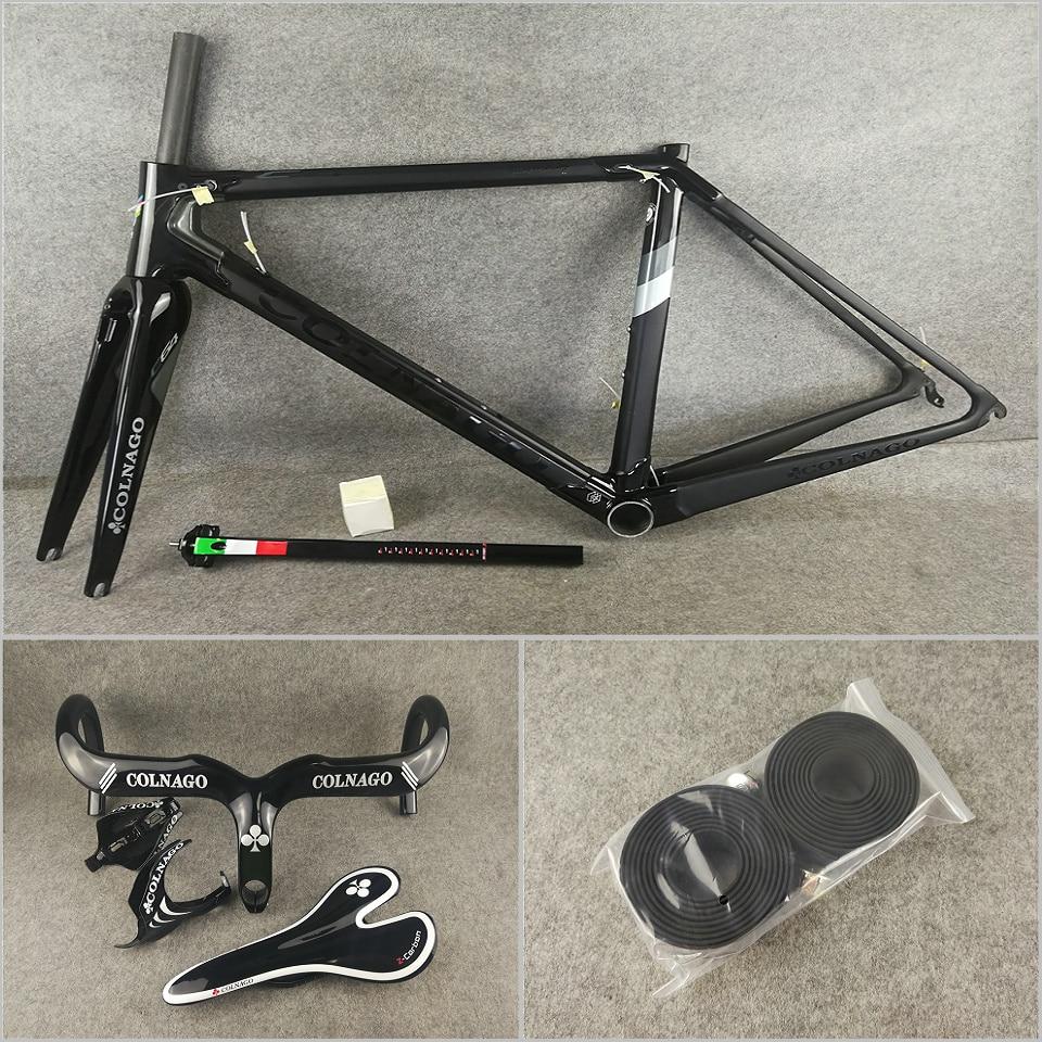 Black On Black BoB T1100 UD Colnago C64 Carbon Road Bike Frames Frameset Handlebar Saddle Water Bottle Holders