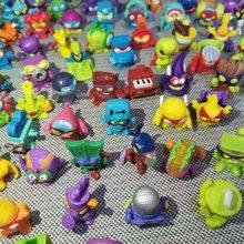 10 pçs/lote super zings anime lixo bonecas figuras de ação 3cm modelo brinquedo crianças jogando superzings lixo mini boneca presente natal