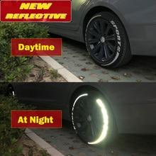 3D Auto Aufkleber Sind Geeignet für Reifen Brief Aufkleber Nacht Reflektierende Dekoration Reifen Aussehen Änderung Zubehör