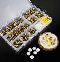 200pcs/set M4 Socket Screw Bolt Nut Flat head screws Screws Nuts Assortment Kit Fastener Hardware Wood screw