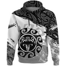 NewFashion New Zealand Maori Tribe Aotearoa Country Flag Retro Funny Tracksuit Men/Women Pullover Streetwear 3DPrint hoodies A-6