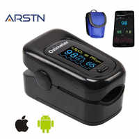 Android iOS Bluetooth 4,0 oxímetro de pulso del dedo oxímetro home oxímetro pulsioxímetro dedo monitor de ritmo cardíaco CE OLED