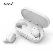 Kebidu TWSหูฟังบลูทูธ5.0หูฟังไร้สายชุดหูฟังหูฟังแฮนด์ฟรีMicสำหรับXiaomi Redmiหูฟังสเตอริโอหูฟัง