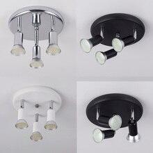 Led الثريا تدوير قابل للتعديل مصباح إضاءة يتم تثبيته بالسقف الثريا أضواء لغرفة المعيشة غرفة الطعام المطبخ الأسود والأبيض والفضة