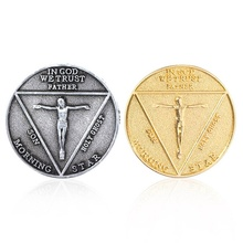 Lucifer Morning Star Satanic Pentecostal badge Coin Specie Accessories Prop Cosplay Accessories Movie Costume morning star