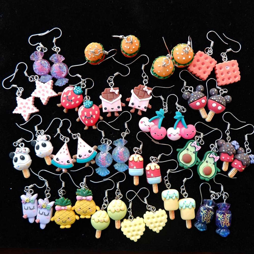 Cute Food Earrings Drop Earring Candy Costume Trendy Style Woman Girl Jewelry Drop Shipping