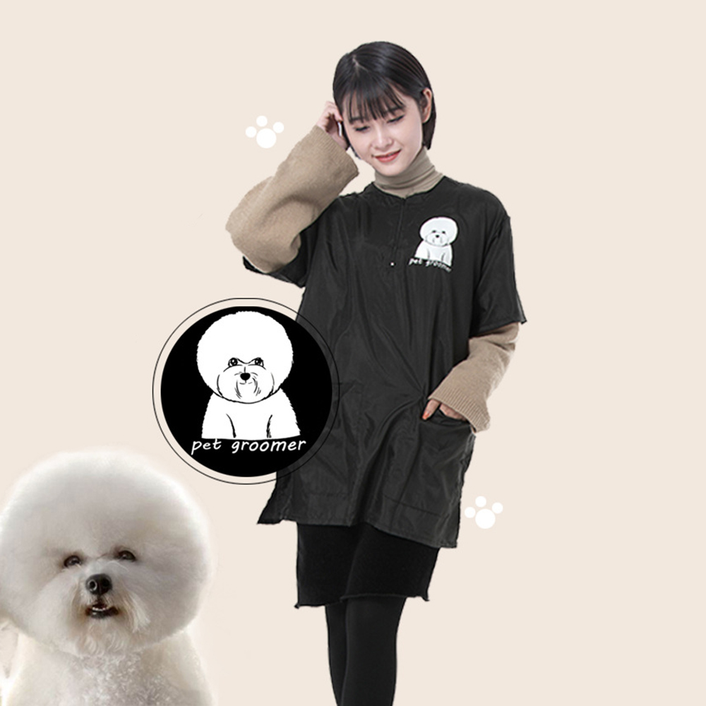 Hairdressing Cape Salon Pet Shop Uniform Apron Work Clothes Anti-dust Beautician Apron For Pet Dog Cat Grooming Hair Cleaning