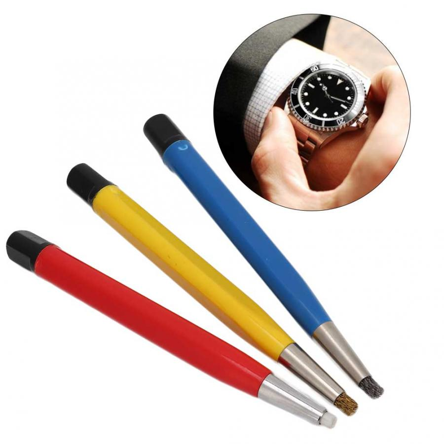 Image 2 - 3pcs/set Watch Parts Accessories Rust Removal Brush Pen Watch Parts Polishing Tool Watch Scratches Removal Pen for watchmakerRepair Tools & Kits   -