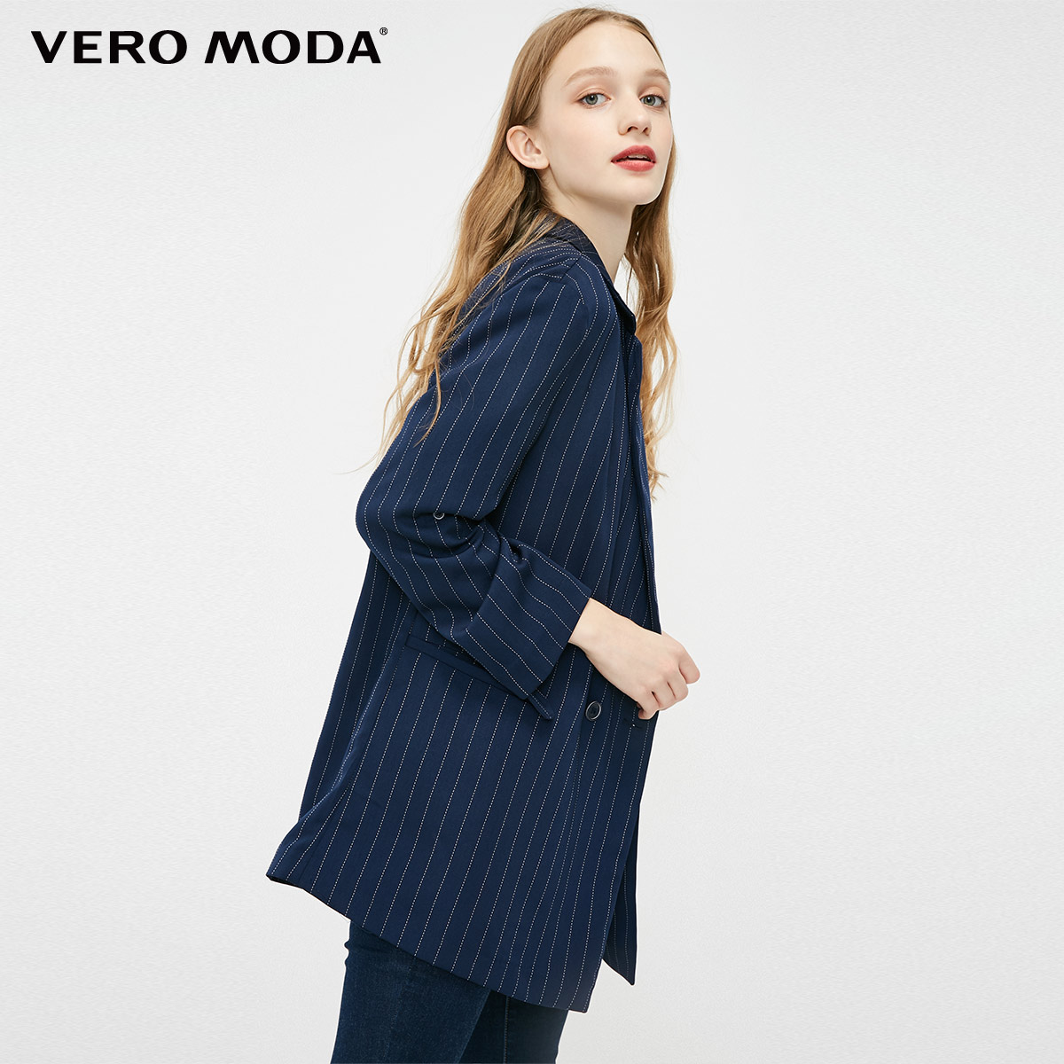 Vero Moda 2019 New Women's Double-breasted Thin Blazer | 319108503
