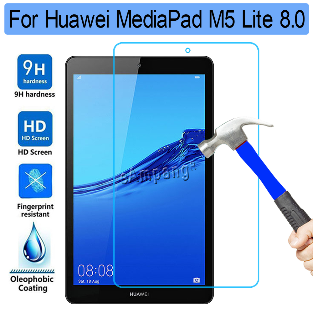 Tempered Glass For Huawei Mediapad M5 Lite 8 8.0 JDN2-W09 JDN2-AL00 Clear Screen Protector Film Tablet Screen Protective Glass
