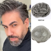 Male Hair Wig Prosthesis Men Toupee Hair Extensions V Loop Base Grey Human Natural Hair Man Wig System Hairline Remy Hair Pieces