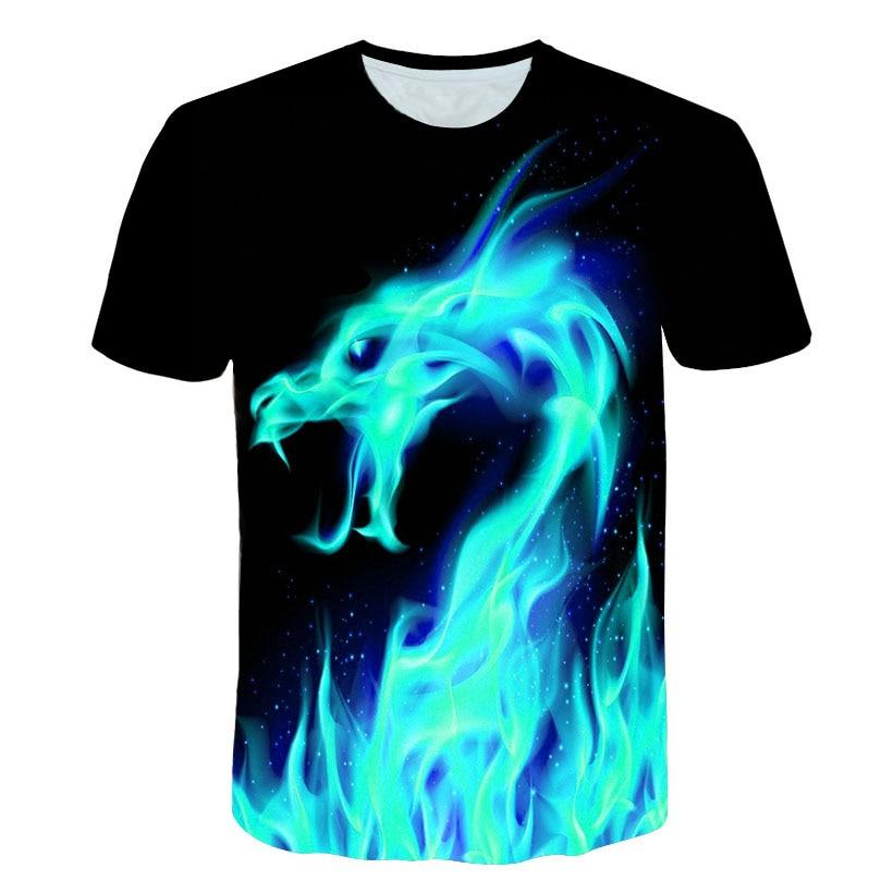 New Trend Cool fire and Water yin yang Kids O-Neck T Shirts for Fashion Children Boys Girls Tee Shirt
