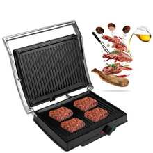 Электрический гриль барбекю машина Барбекю гриль 1800 Вт с антипригарной сковороде стейк мяса делая машину ЕС Plug