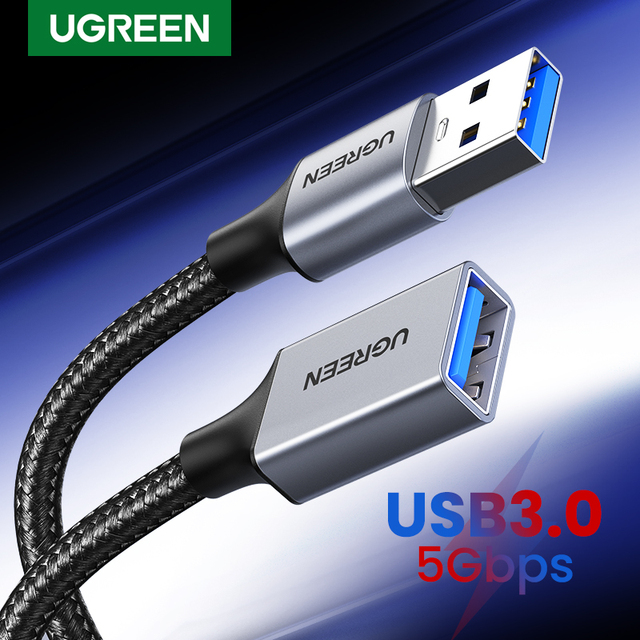 Ugreen USB 3.0 Cable USB Extension Cable Male to Female Data Cable USB3.0 Extender Cord for PC TV USB Extension Cable