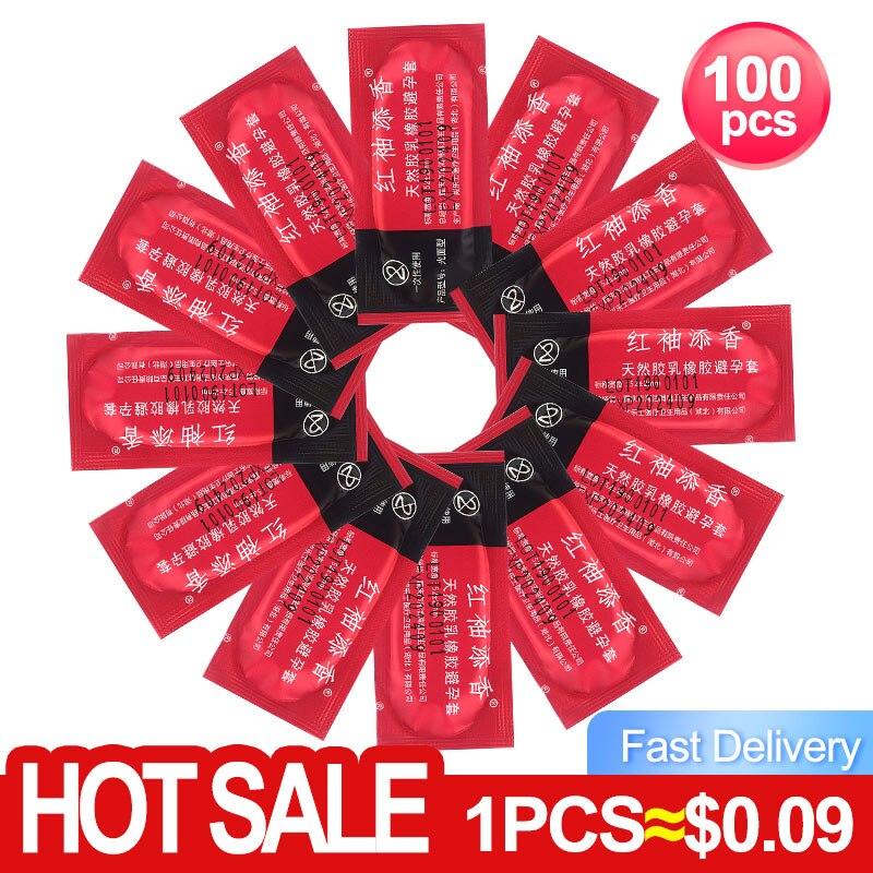 Оптовая презервативы 100шт Презервативы ультра тонкий большой масла Количество Секс Инструмент продукты для Для мужчин пакет презервативов...
