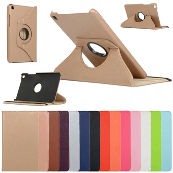 360 Degrees Rotating Litchi PU Leather Flip Cover Case For Samsung Galaxy Tab A 8.0 2019 SM-T290 SM-T295 Tablet 1