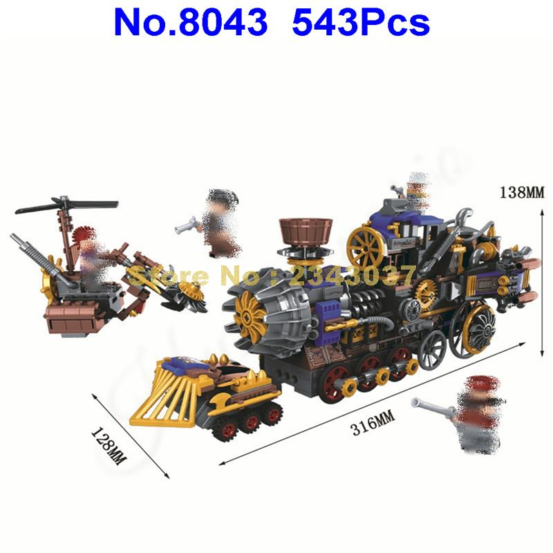winner 8043 543pcs world war 2 the age of steam military steam train building block 4 figures Toy