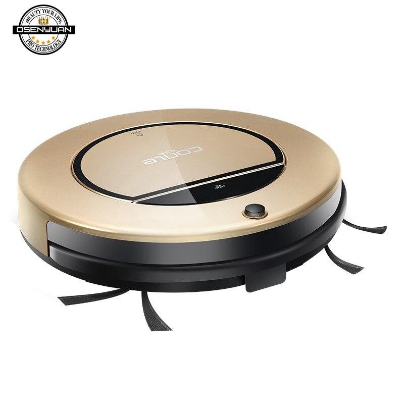 Melhor 2000Pa Varrer a Poeira Esterilizar Robot Vacuum Cleaner para Casa Automático Inteligente Planejado Controle Remoto