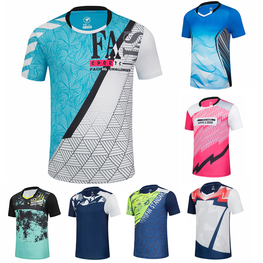 2020 Badminton Shirts Sports Men/Women Quick Dry Breathable Table Tennis T Shirts Running Sports Shirt Fitness Training T Shirts