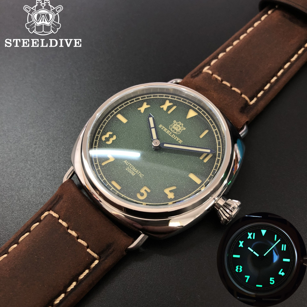 STEELDIVE 1936 Dive Watches Men 200m New Arrival Watch 2020 Mechanical Watch Japan Movement NH35 Sapphire Stainless STEELDIVE