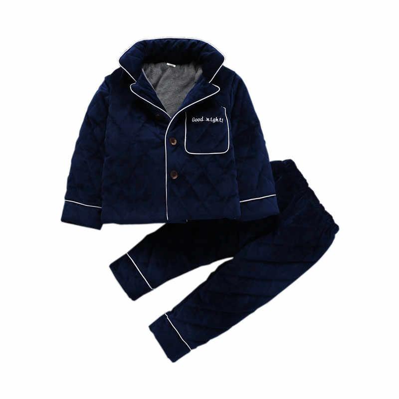 Pijama de invierno Infantil Inverno niños Pijamas conjunto grueso de lana de Coral algodón bebé niña Pijamas niños ropa de dormir Pijama Infantil