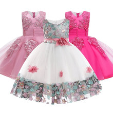 US $5.9 21% OFF|Flower Girls dresses for New Year clothes Party Baby Girls Sleeveless Big Bow Princess Wedding Dress Children Party Vestidos-in Dresses from Mother & Kids on AliExpress