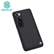 For Xiaomi Mi 10 Ultra Case NILLKIN Textured Nylon Fiber Hard PC Panel+TPU Frame Back Cover Case For Xiaomi Mi 10 Ultra