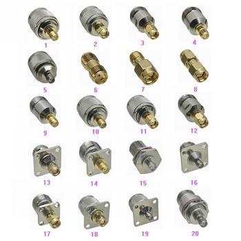 1pce SMA к N / SMA Штекерный разъем и гнездовой разъем, фланец и булочка RF коаксиальный разъем адаптера