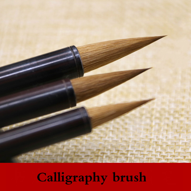 3pcs/set Chinese Calligraphy Brushes Wolf Hair Writing Brush Pen For Calligraphy Drawing Freehand Painting Huzhou Ink Brush