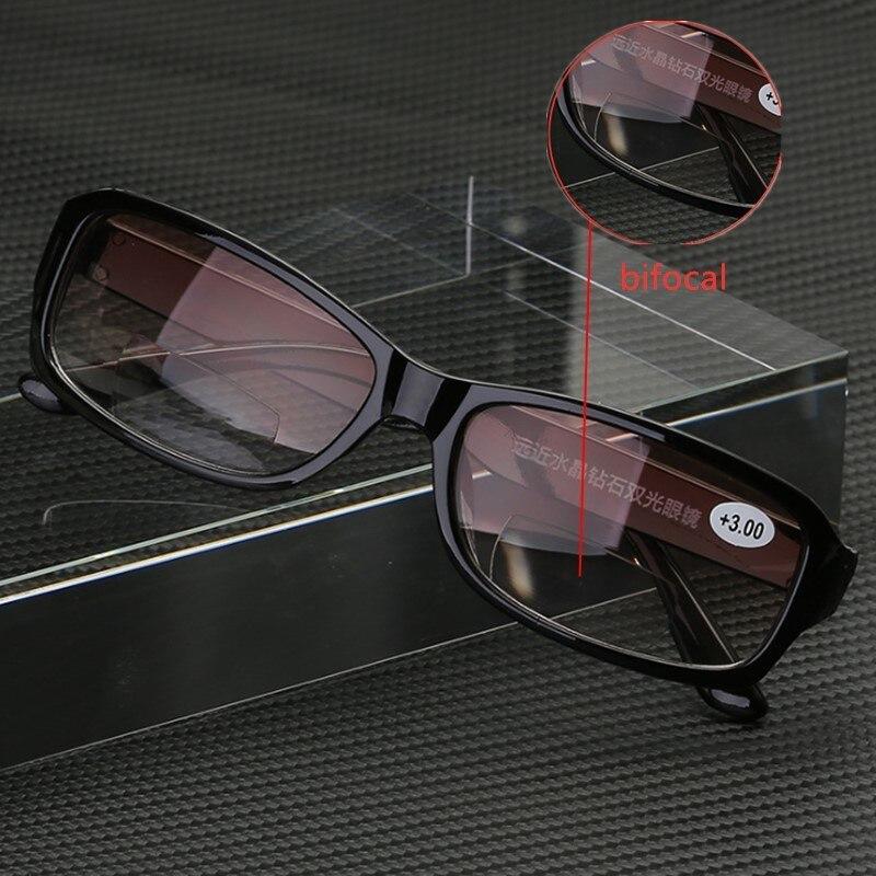 Очки для чтения с бифокальным мультифокальным фокусом для мужчин и женщин, легкие пресбиопические очки с автофокусом, увеличительные пластиковые черные очки ближнего и дальнего света 150 Женские очки для чтения      АлиЭкспресс