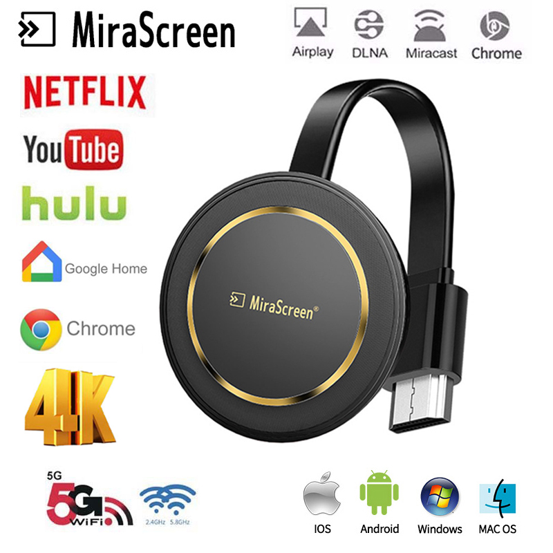 G14 TV Stick 4K Wireless Screen Projector 5G WiFi Display Dongle Airplay HDMI For Google Chromecast Cast For Youtube Netflix