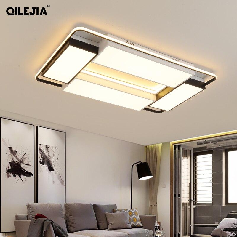 Işıklar ve Aydınlatma'ten Tavan Işıkları'de Led tavan lambası İskandinav oturma odası lamba basit modern dikdörtgen atmosfer ev yatak odası lambası yaratıcı odası lambaları title=