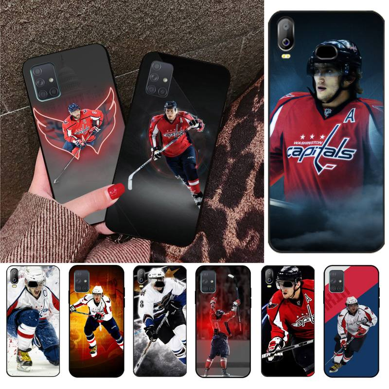 HPCHCJHM Alexander Ovechkin Nhl Star Hockey Phone Cover Capa For Samsung A10 A20 A30 A40 A50 A70 A71 A51 A6 A8 2018(China)