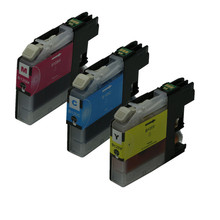 3PK Color Ink Cartridges LC125 LC 125 Replacement For Brother MFC-J4410DW MFC-J4510DW MFC-J4610DW Printer Inkjet new inkjet printer 1pcs lc235 chip resetter for brother mfc j5720 mfc j4120 mfc j4620 mfc j5320