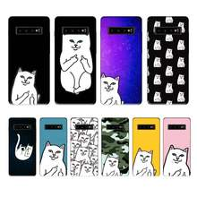 Ripndip Kat Fashion Case Coque Fundas Etui Voor Samsung Galaxy A10 A20 A30S A40 A50 A51 A70 A71 Note 8 9 10 Gevallen Cover(China)