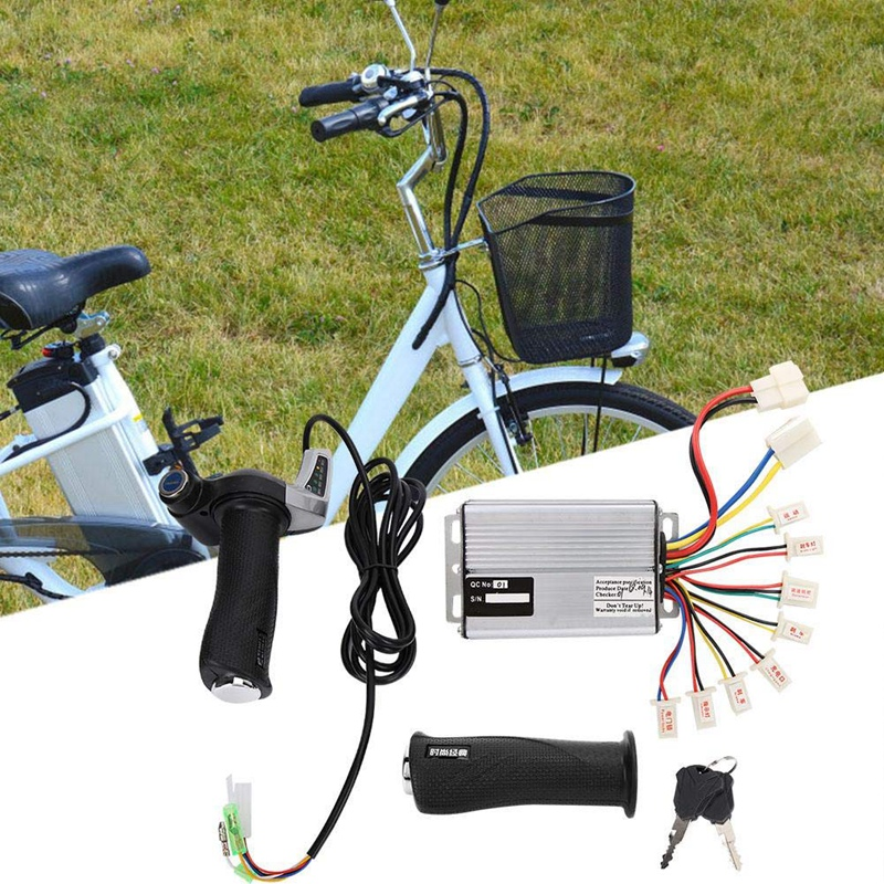 Bike Electric <font><b>Motor</b></font> Kit <font><b>36V</b></font> 1000W <font><b>Motor</b></font> <font><b>Brushed</b></font> Speed Controller with Locking Throttle Twist Grip & Power Display for E-Bike Ele image