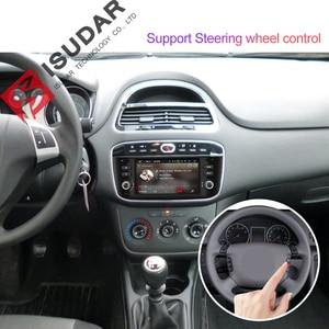 Image 4 - Isudar samochodowy odtwarzacz multimedialny 1 Din Android 9 dla Fiat/Linea/Punto 2012 2015 GPS DVD Automotivo Radio FM czterordzeniowy DSP USB DVR