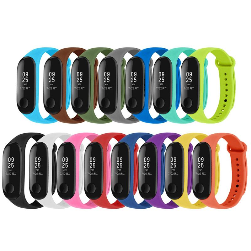 15pcs Silicone Watchband Replacement Bracelet For Xiao Mi Mi Smart Band 4 3