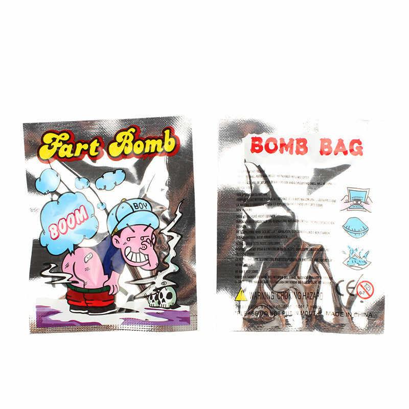 10 adet/takım komik osuruk bomba çanta kokusu bomba kokulu komik geyik pratik şakalar aptal oyuncak hediyeler