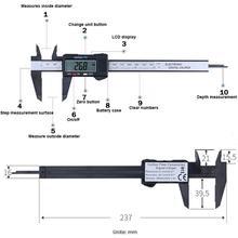 Messung Werkzeug Kunststoff LCD Digitale Elektronische Carbon Faser Messschieber Regel Noniuslehren-mikrometer Digitale Sattel