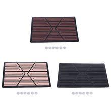 цена на Universal Black/Beige/brown PVC Car Floor Carpet Pad Heel Foot Mat Pedal Patch Cover 23x15cm Car Mat Anti-skid Pedal